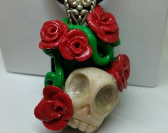 Skull and Roses Pendant