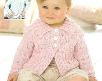 SIRDAR 1801 Baby & Children's Jackets/Cardigans Knitting Pattern PDF Instant Download