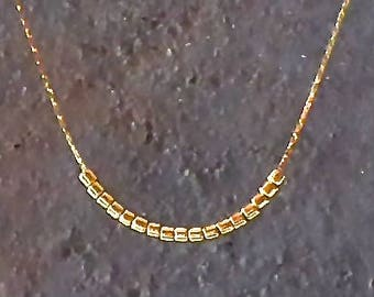 Minimalist Necklace, Gold Layering Necklace, Gold Jewelry, Delicate Beaded Jewelry, Everyday Jewelry, Simple Jewelry, Gift For Women