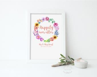 Personalised Wedding Gift, Personalised Wedding Anniversary Gift, Paper Wedding Anniversary, Wedding Present, Personalised Print