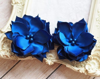 Wedding Hair Flower Accessory, Bridesmaid Flower Pin, Blue Bridal Hair Accessory,Bridesmaid Bobby Pin,Royal Blue Bridesmaid,Blue Hair Flower