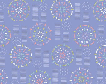 Kaleidoscope Mandalas Fabric - Lavender - Sold by the 1/2 Yard
