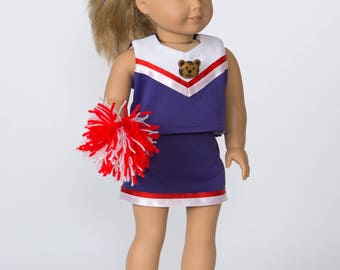 Go Team! Cheerleader outfit for 18-inch doll