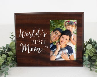 FREE SHIPPING Mom Picture Frame Worlds Best Mom