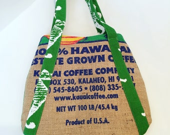 Kauai Coffee Company/ Burlap Purse/ Handbag