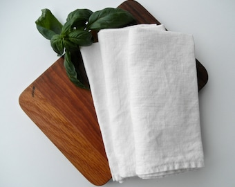 White Linen Napkins, Farmhouse Napkin, Organic Table Napkins, Rustic Chic Napkin