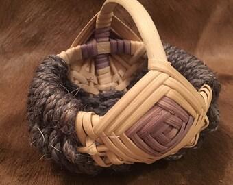 Vintage Handmade Alaskan Berry Basket
