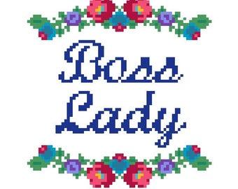 """PATTERN: Cross Stitch """"Boss Lady"""" PATTERN *PDF* File"""