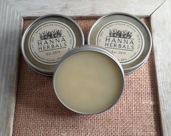Hand and Foot Balm - Cracked skin relief - dry skin relief - winter weather relief - organic balm - 2 ounce tins -Hanna Herbals