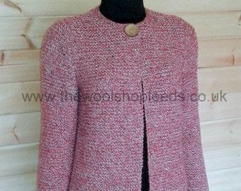 Chunky Garter Stitch Jacket Knitting Pattern