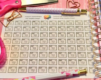 Postcrossing Incoming/Outgoing Planner Stickers