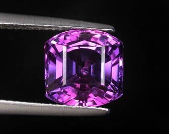 5.7 ctw. blue purple sapphire loose gemstone.