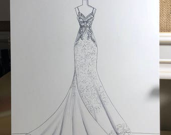 Bridal Illustration-Enzoni- Gown Illustration