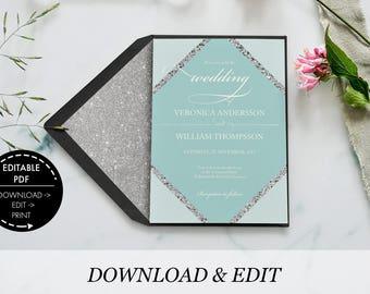 Wedding Invitation template, invitation template, printable wedding, printable invitation, wedding invitation, wedding invite, wedding