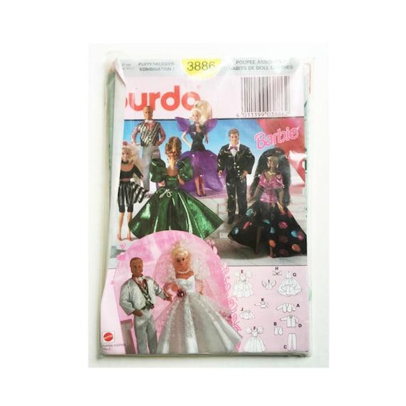 Vintage Barbie Clothing Pattern, Burda 3886 Sealed New Old Stock ...