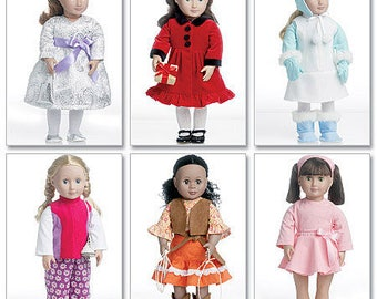 McCalls 6257- Sewing pattern for 18 Inch Doll Clothes- Fits American Girl Dolls