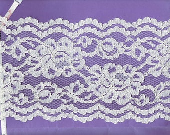 6.5 inch Ivory Bridal galoon lace  trim   13 yds