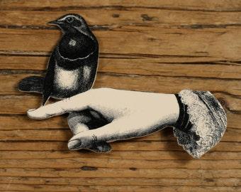 Bird in Hand Brooch