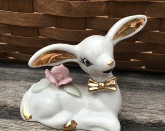 Ceramic / Porcelain Deer / Fawn Figurine