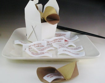 "Fused Glass Fortunes with Origami ""Cookie"