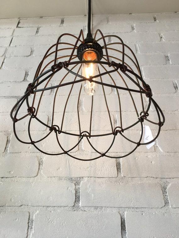 Wire Bell Pendant Light Small lighting pendant
