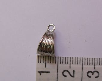 set of 5 metal silver triangle bails