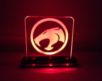 Thundercats Lighted LED Acrylic Sign with color changing LED and remote