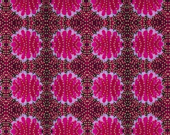 Magenta fabric by half yard, floral cotton, magenta quilting cotton, blender quilting fabric, Free spirit sewing fabric, Jennifer Paganelli