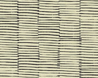 LINES in Black Maker Maker by Sarah Golden for Andover Fabrics