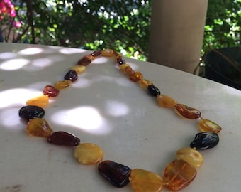 Amber handmade necklace
