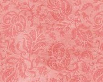 Neptune's Garden Fabric, By The Yard, Pink Damask Fabric, Wilmington Prints Fabric