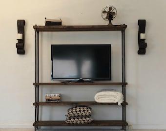 Industrial Entertainment Center - TV Stand - Media Center - Living Room Furniture - ENT
