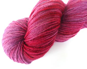 Hand dyed sock yarn Premium high twist  hand painted: Wine leaves
