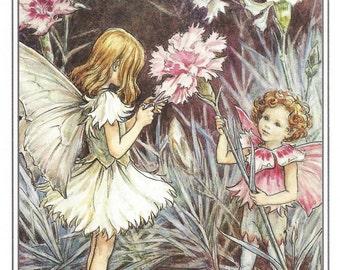 The Pink Fairy Cicely Mary Barker Flower Fairies Vintage Print 1995 Wall Art Nursery Decor Fairy Print Home Decor Print Fine Art