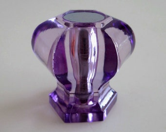 Purple Glass Crystal Look Knobs Dresser Knob Drawer Knobs Pulls Handles Kitchen Cabinet Knobs Door Knobs Kids Girls Hardware Acrylic
