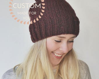 Custom Knit Rib Hat x The Vivienne hat x your choice of colour