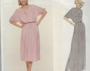1980s Vogue  American Designer Carol Horn 1880 Sewinig Pattern  Dress Size 12 Bust 34