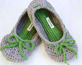 Adjustable non-slip crochet slippers