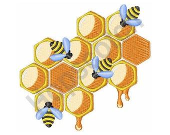 Honey Bees - Machine Embroidery Design