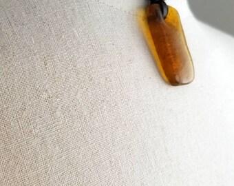 Pendentif en verre africain Lapointe tressé cuir collier, RAS de cou en cuir, bijoux Tribal, perles africaines, dés, en laiton argenté brun noir
