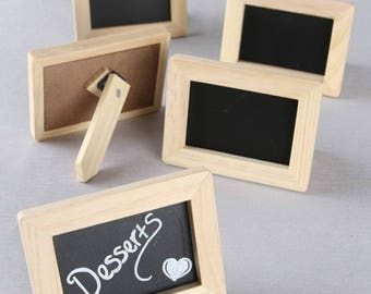 Chalkboard Place Card Holders (Pack of 5) Wedding Reception Supplies