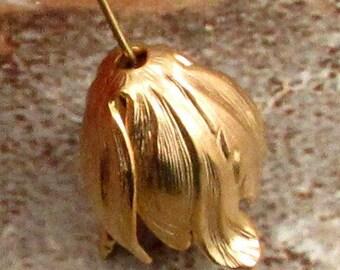 Tulip Bead Cap, Pendant, Matte Gold, 20x17 mm, AG263