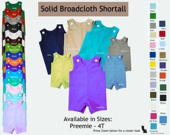 Solid Shortall Jon Jon Romper Broadcloth Made to Order MTO SEBBYMTO