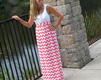 The PLUS SIZE Maxi-Tank Dress -- Women's Maxi Dress -- Jersey Cotton Knit Dress -- You Design -- Custom Made to Measure