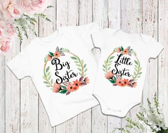Big Sister Shirt Little Sister Shirt Set, Big Sister Little Sister Outfit, Big Sister Shirt, Little Sister Bodysuit, Sisters Set,Sibling set
