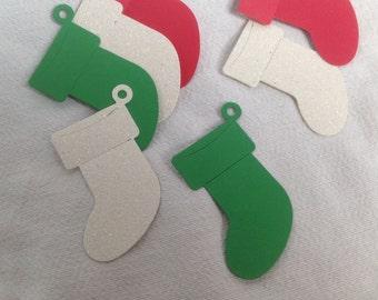 Christmas Stocking Gift Tags - set of 12.