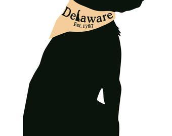 "OutaChesapeake Delaware Dog 5"" Magnet"