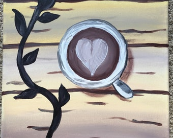Coffee Love acrylic painting