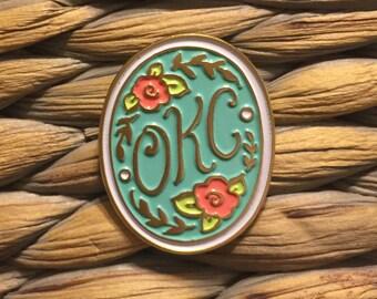 OKC enamel pin