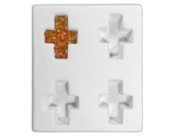 Cross Pendant Cube Mold  for Glass Fusing Slumping in Kiln***New in Box***